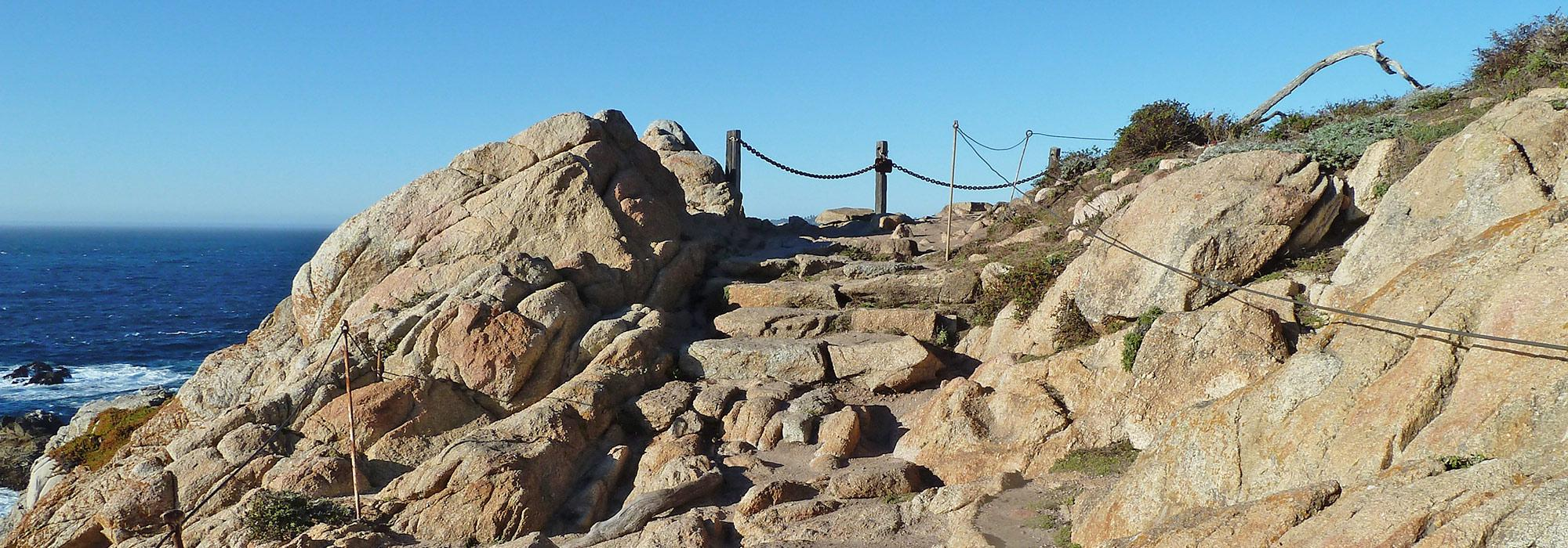 rocky path at Point Lobos