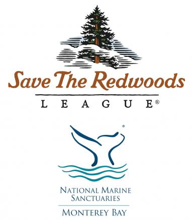 logos for Save the Redwoods and National Marine Sanctuaries Monterey Bay