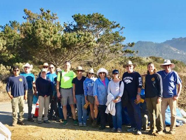 Image of 2018 trail workday by volunteer Linda Mullaly